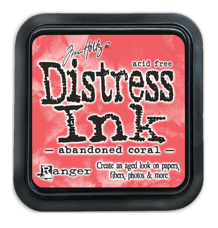 Tim Holtz Ranger Distress Ink Pad - ABANDONED CORAL