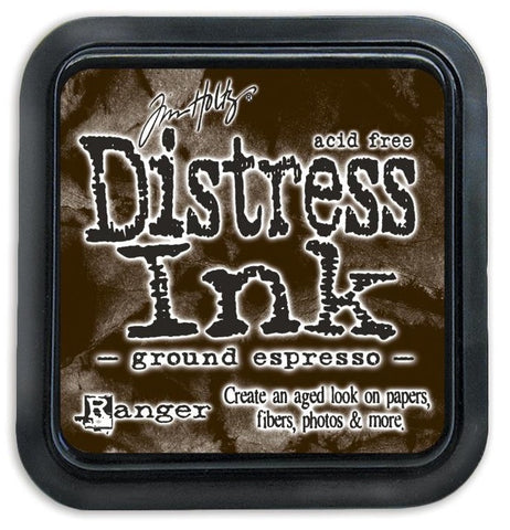 Tim Holtz Ranger Distress Ink Pad - GROUND ESPRESSO -  August 2015 - Hallmark Scrapbook - 1