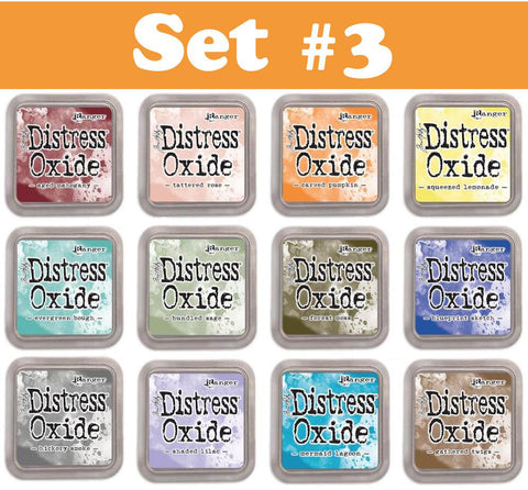 Tim Holtz Ranger Distress Oxide Ink Pad Set 3- SET OF 12 - 3rd Release