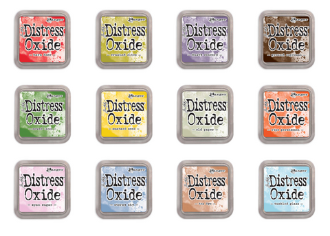 Tim Holtz Ranger Distress Oxide Ink Pad Set 4 - SET OF 12 - 4th Release