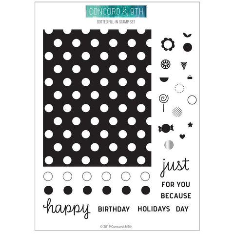 Concord & 9th - DOTTED FILL-IN Stamps Set
