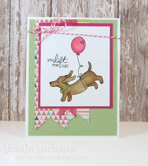 Newton's Nook Designs - DELIGHTFUL DOXIES Clear Stamps - Hallmark Scrapbook - 9