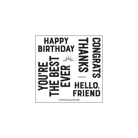 Concord & 9th - EVERYDAY GREETINGS Clear Stamps Set