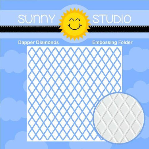 Sunny Studio - DAPPER DIAMONDS - Embossing Folder