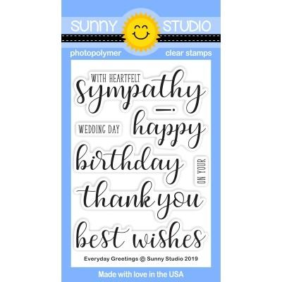 Sunny Studio - EVERYDAY GREETINGS - Stamps Set