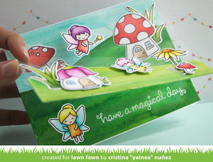 Lawn Fawn - FAIRY FRIENDS - Clear STAMPS - Hallmark Scrapbook - 3
