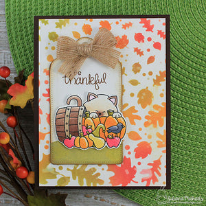 Newton's Nook Designs - FALLING LEAVES Stencil - Paw Prints