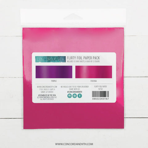 Concord & 9th - FOIL 6x6 Paper Pack - FLIRTY - 30% OFF!*