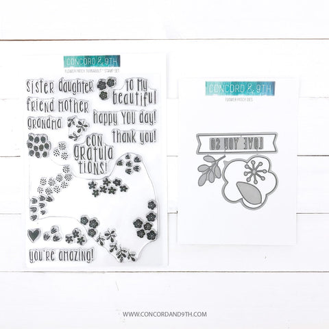 Concord & 9th - FLOWER PATCH - Stamps and Die BUNDLE Set