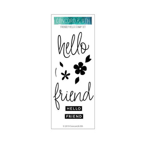 Concord & 9th - FRIENDLY HELLO - Stamps Set - 30% OFF!