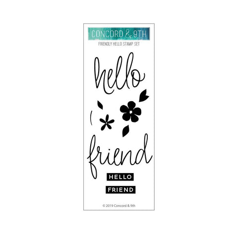 Concord & 9th - FRIENDLY HELLO - Stamps Set