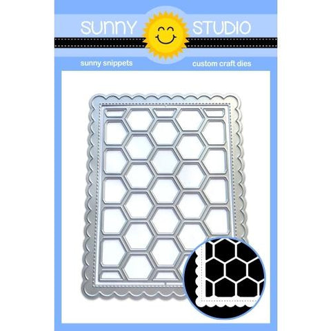 Sunny Studio - Frilly Frames HEXAGON - Die Set