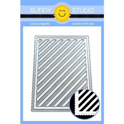 Sunny Studio - FRILLY FRAMES STRIPES - Die Set