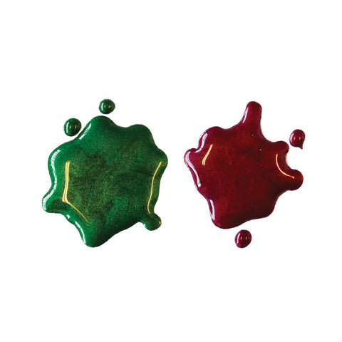 Hero Arts - GREEN & RED - Glimmer Metallic Inks