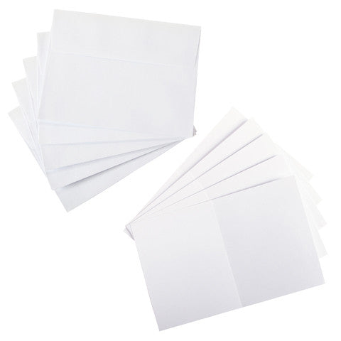 Core'dinations - A2 Cards & Envelopes - WHITE Smooth - 25 pc - Hallmark Scrapbook