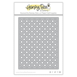 Honey Bee Stamps - GARDEN LATTICE Cover Plate BASE - Die