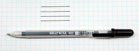 Gelly Roll - Medium Point Pen - Open Stock BLACK - Hallmark Scrapbook