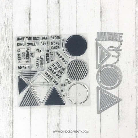 Concord & 9th - GEOMETRICS Clear Stamps and Dies BUNDLE