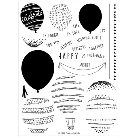 Concord & 9th - HAPPY BALLOONS Stamps set
