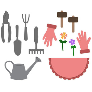 Honey Bee - APRON GARDEN TOOLS Add-On - Dies Set