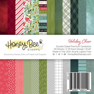 Honey Bee - HOLIDAY CHEER - Paper Pad 6x6