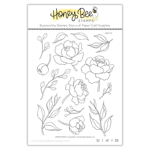 Honey Bee Stamps - SPRING PEONY - Stamp Set