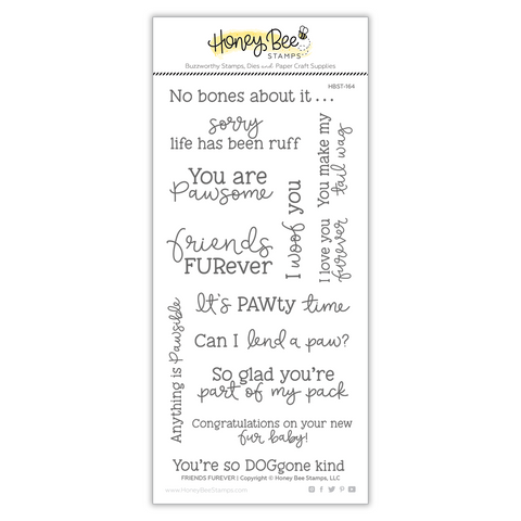 Honey Bee Stamps - FRIENDS FUREVER - Stamp Set