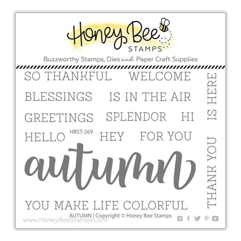 Honey Bee - AUTUMN - Stamp Cuts