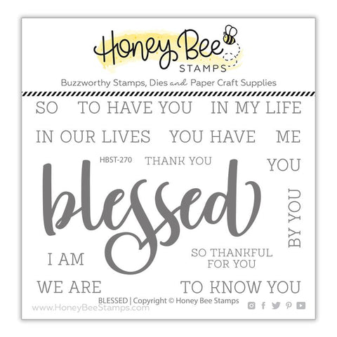 Honey Bee - BLESSED - Stamp Set