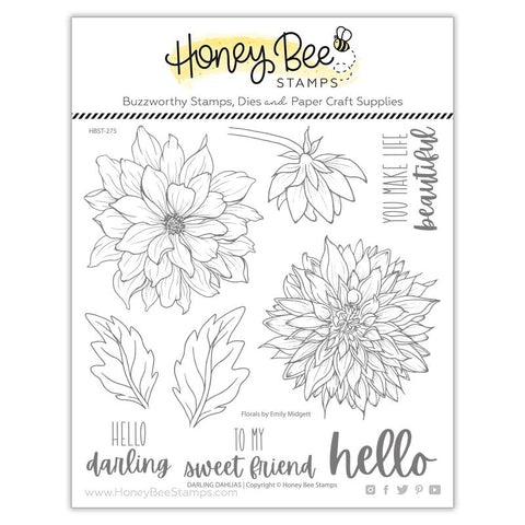 Honey Bee - DARLING DAHLIAS - Stamp Set