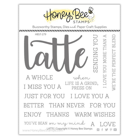 Honey Bee - LATTE - Stamp Set