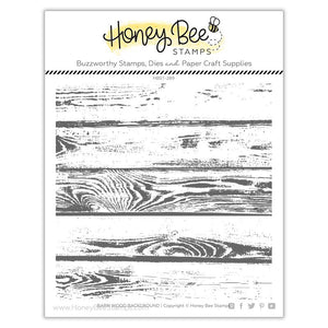 Honey Bee - BARN WOOD Background - Stamp Set
