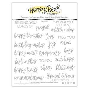 Honey Bee - PICKUP LINES Sentiments - Stamps Set
