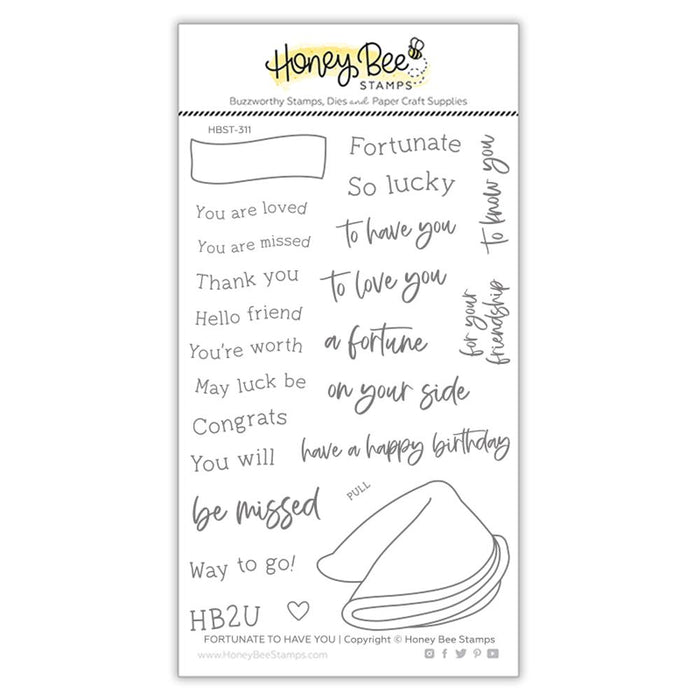 Honey Bee - FORTUNATE TO HAVE YOU - Stamps set
