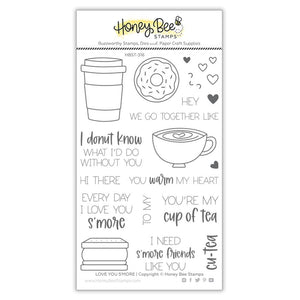 Honey Bee - LOVE YOU S'MORE - Stamps set