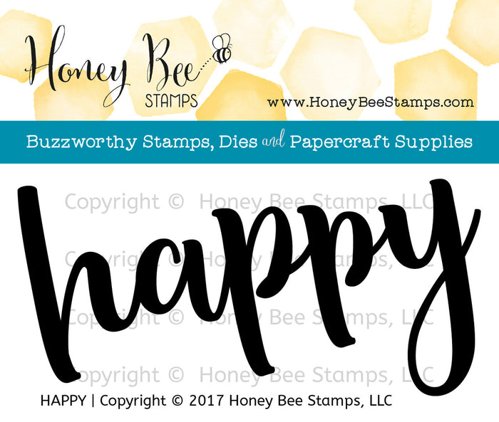 Honey Bee Stamps - HAPPY - Clear Stamps