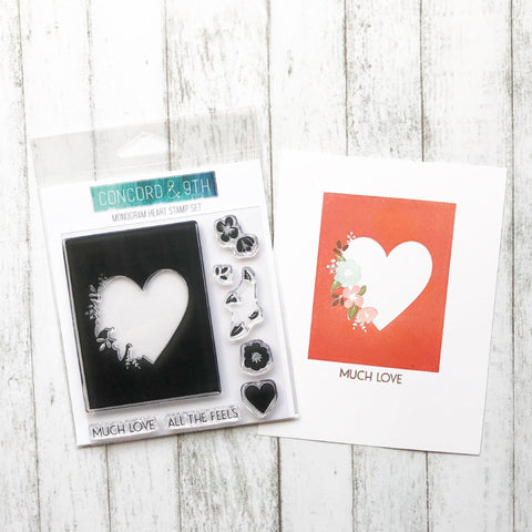 Concord & 9th - Monogram Collection HEART - Stamps Set