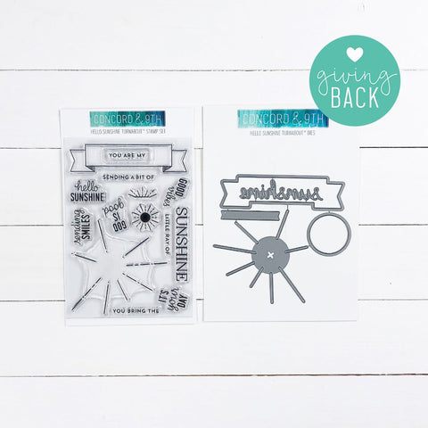 Concord & 9th - HELLO SUNSHINE TURNABOUT Stamps and Dies BUNDLE set