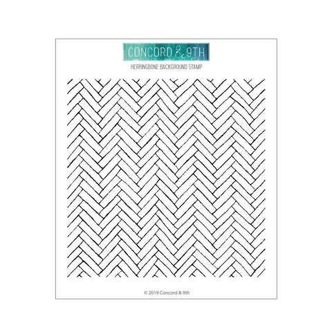 Concord & 9th - HERRINGBONE BACKGROUND - Stamps set