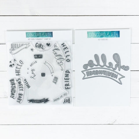 Concord & 9th - HEY THERE Stamps and Dies BUNDLE set