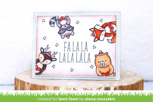 Lawn Fawn - HOLIDAY PARTY ANIMAL - Clear Stamps set - Hallmark Scrapbook - 2