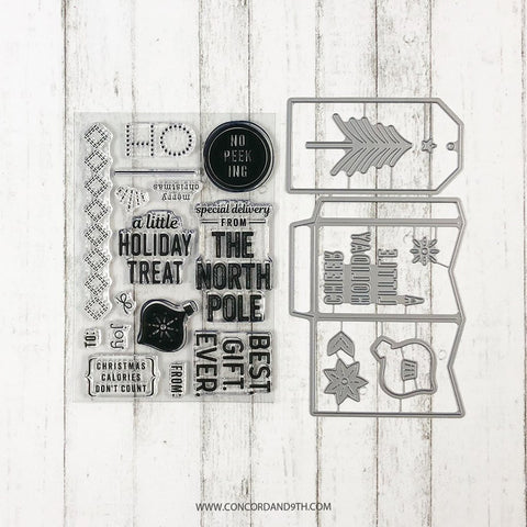 Concord & 9th - HOLIDAY CHEER TAGS Stamps and Dies BUNDLE