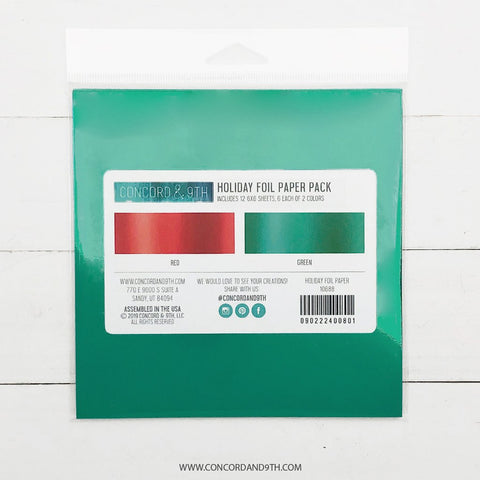 Concord & 9th - FOIL 6x6 Paper Pack - HOLIDAY