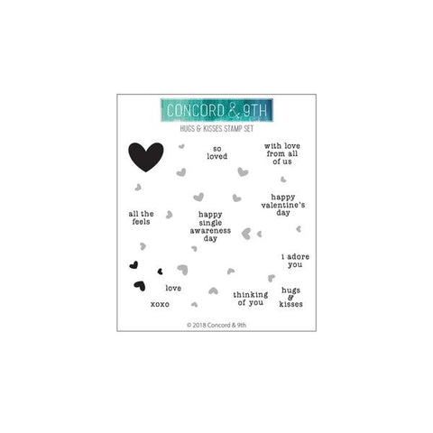 Concord & 9th - HUGS AND KISSES TURNABOUT Stamp Set