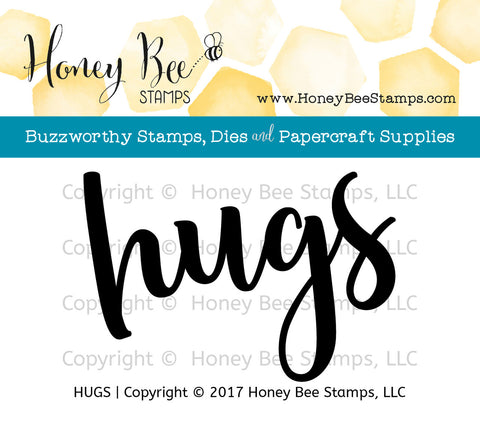 Honey Bee Stamps - HUGS - Clear Stamps