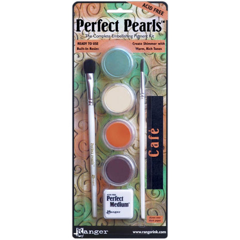 Ranger - Perfect Pearls Pigment Powder - CAFE - Hallmark Scrapbook