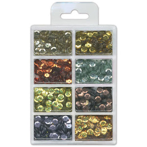 CraftMedley - Cup SEQUIN KIT  - Dazzling Metallics 7mm (.56 oz) - Hallmark Scrapbook