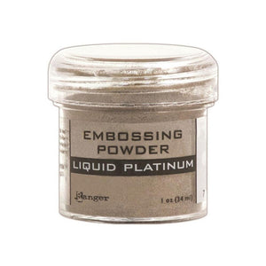 Ranger - Embossing Powder - LIQUID PLATINUM 1oz. - Hallmark Scrapbook