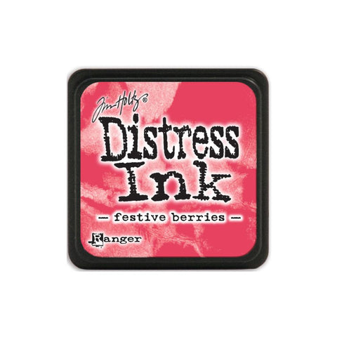 Tim Holtz Ranger Distress MINI Ink Pad - Festive Berries - Hallmark Scrapbook