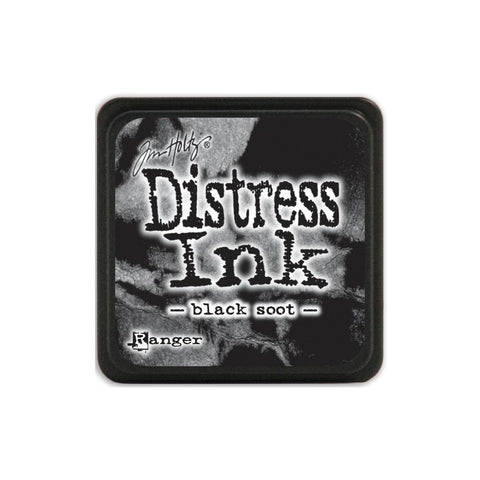 Tim Holtz Ranger Distress MINI Ink Pad - Black Soot - Hallmark Scrapbook